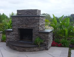 Stone, Fireplace Outdoor Fireplaces Specialty Design Coatings Laguna Niguel, CA