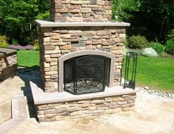 Stone, Mantel Outdoor Fireplaces Absolute ConcreteWorks Port Townsend, WA