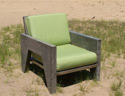 Concrete Chair Outdoor Furniture Natural Concrete Artistry Hamilton, MI
