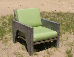 Concrete Chair Outdoor Furniture Natural Concrete Artistry Hamilton, MI