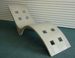 Concrete Chaise Lounge Outdoor Furniture Rock Elements Escanaba, MI
