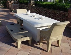 White, Patio Furniture Outdoor Furniture Concrete -N- Counters Lutz, FL