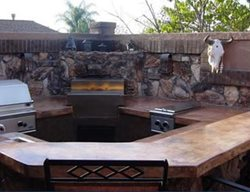 Bar, Brown Outdoor Kitchens Specialty Design Coatings Laguna Niguel, CA