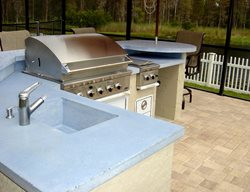 Bbq, Blue Outdoor Kitchens Concrete -N- Counters Lutz, FL