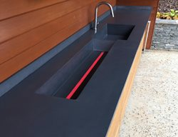Black Counter, Drink Trough Outdoor Kitchens Reaching Quiet Design Charlotte, NC