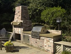 Brick, Natural Outdoor Kitchens Concrete Interiors Martinez, CA