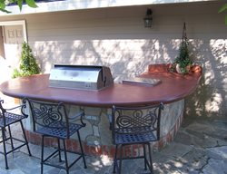 Concrete Barbecue, Outdoor Concrete Countertops Outdoor Kitchens Concrete Interiors Martinez, CA