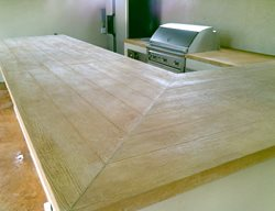 Faux Wood Countertops Outdoor Kitchens Stamped Artistry Pasadena, TX