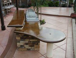 Sleek, Bbq Bar Outdoor Kitchens Surfacing Solutions Inc Temecula, CA