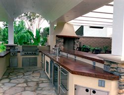Sleek, Modern Outdoor Kitchens California Concrete Designs Anaheim, CA
