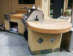 Terra Cotta, Tile Outdoor Kitchens Concast Studios Oceano, CA