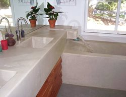 Bathtub, Faucet Ron Odell's Custom Concrete Woodland Hills, CA