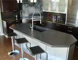 Charcoal Color Countertop Pourfolio Custom Concrete San Diego, CA