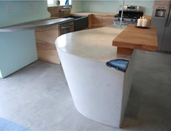 Light Grey, Modern Counter, Modern Kitchen Insland DC Custom Concrete San Diego, CA