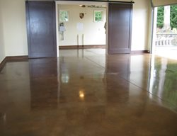Brown Concrete Polished Floor Deco Pour Harvey Construction