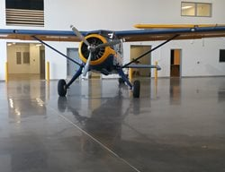 Gray Concrete, Polished Concrete, Airplane Hangar Polished Concrete Deco-Pour/Harvey Construction Inc Everett, WA