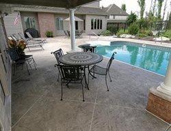 Pool Deck Large Tiles, Slate Site Aupperle Construction Morton, IL