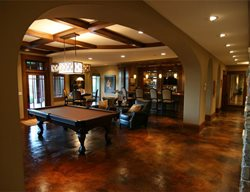 Brown, Pool Table Stained Concrete Concrete Arts Hudson, WI