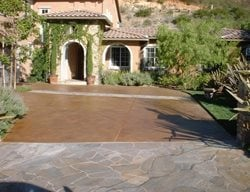 Driveway, Entrance Stained Concrete Concepts In Concrete Const. Inc. San Diego, CA