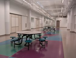 Middle School Floor, Colored Concrete Stained Concrete Tyson's Inc Kailua, HI