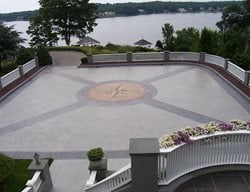 Belgian Block, Compass Design Stamped Concrete Beyond Concrete Keyport, NJ
