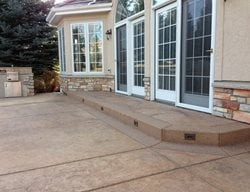 Brown Stamped Concrete Patio Stamped Concrete Diehl Concrete Sedalia, CO