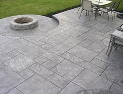 Concrete, Decorative Concrete, Stamped Concrete, Concrete Patio, Concrete Firepit Stamped Concrete Texian Concrete Houston, TX