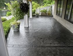 Dolphin Grey Stamped Concrete Narrows Construction Gig Harbor, WA