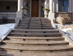 Entry, Stairs, Stamped Stamped Concrete Rocky Mountain Concrete Specialists Morrison, CO