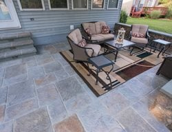 Multicolor Stamped Concrete, Walls Stamped Concrete Salzano Custom Concrete Aldie, VA