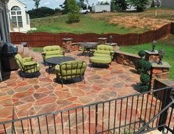 Residential Stamped Concrete Patio Stamped Concrete Salzano Custom Concrete Aldie, VA