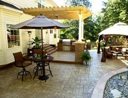 Stamped Concrete Outdoor Entertaining Area Stamped Concrete Greystone Masonry Inc Stafford, VA