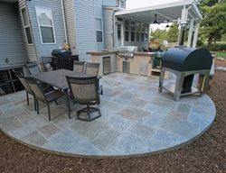 Stamped Concrete Patio, Round Patio Stamped Concrete Salzano Custom Concrete Aldie, VA