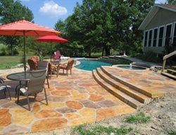 Stamped Concrete Pool Deck Dallas Stamped Concrete Sublime Concrete Solutions LLC. Plano, TX