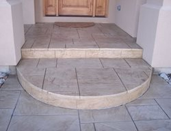 Stamped, Light, Stone, Entry Stamped Concrete Rocky Mountain Concrete Specialists Morrison, CO
