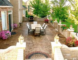Stamped Patio, Block Wall Stamped Concrete Biondo Cement Co Inc Shelby Charter Township, MI