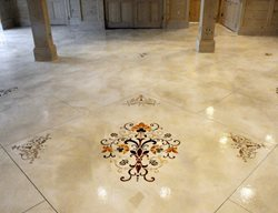 Stenciled Flooring Custom Concrete Solutions, LLC West Hartford, CT