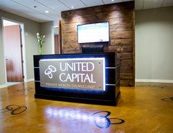 Stained Commercial Floor Stenciled Flooring Atlanta Concrete Artist Alpharetta, GA