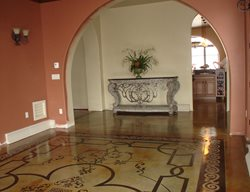 Stenciled Floor, Stained Floor, Patterned Floor Stenciled Flooring Image-N-Concrete Designs Larkspur, CO
