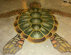 Stenciled Sea Creatures Stenciled Flooring American Society of Concrete Contractors ,