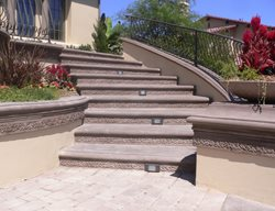 Bullnose Concrete Step Profile Steps and Stairs The Green Scene Chatsworth, CA