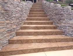 Carved Concrete, Faux Flagstone Steps and Stairs PennyEarned, LLC Montgomery, AL