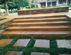 Concrete Steps, Concrete Stairs, Concrete, Stairs, Steps, Landscape Design Steps and Stairs Angel's Concrete Design Services Houston, TX