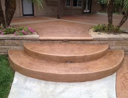 Round Concrete Steps, Seamless Texture Steps and Stairs KB Concrete Staining Norco, CA