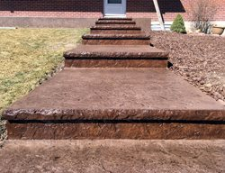 Stamped Steps, Concrete Steps,  Steps and Stairs Ramirez Architectural Concrete, Co Fountain, CO