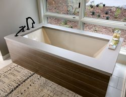 Concrete Bathtub Surround Tubs and Showers Hard Topix Jenison, MI
