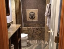 Vertical Carved Concrete Bath Tub Tubs and Showers D.C. Custom Construction Quincy, WA