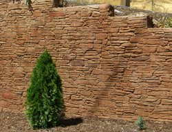 Stamped Retaining Wall Vertical Stamping California Decorative Concrete El Dorado Hills, CA