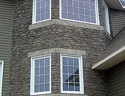 Stone Facing, House Vertical Stamping Stone Edge Surfaces Mesa, AZ