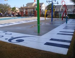 Splash Park Water Features Concrete Coatings Mandeville, LA